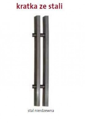 PML 340/1500 Stal nierdzewna kratka poprzeczna lub podłużna