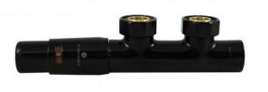 602100102 Zestaw Duo-plex z głowicą Mini, 3/4 x M22x1,5, figura kątowa lewa, 2 szt. nypel 1/2x3/4