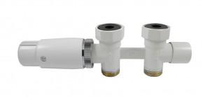 606200016 Zestaw Duo-plex Invest Mini prosty 3/4 x M22x1,5 biały