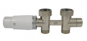 606200013 Zestaw Duo-plex Invest Mini. Niklowany. 3/4 x M22x1,5. Figura prosta