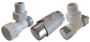 604200016 Zestaw termostatyczny Elegant kątowy PEX biały-chrom