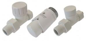 604200032 Zestaw termostatyczny Elegant prosty PEX biały
