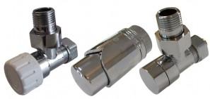 604200122 Zestaw Termostatyczny Elegant kątowy ze złączką do stali - chrom