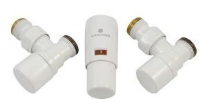 603400001 Zestaw termostatyczny Elegant Mini 1/2 x M22x1,5, kątowy, biały