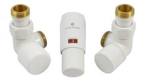 603400015 Zestaw termostatyczny Elegant Mini 1/2 x M22x1,5, osiowy, biały