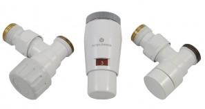 603400041 Zestaw termostatyczny Elegant Mini 1/2 x M22x1,5, kątowy, biały