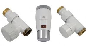 603400044 Zestaw termostatyczny Elegant Mini 1/2 x M22x1,5, prosty, biały-chrom