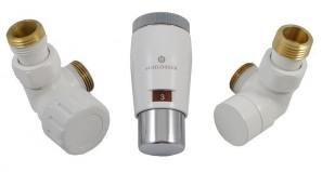603400046 Zestaw termostatyczny Elegant Mini 1/2 x M22x1,5, osiowy, biały-chrom