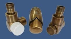 601700171 Zestaw łazienkowy Exclusive GZ ½ x złączka 15x1 Stal osiowo prawy Antyczny mosiądz