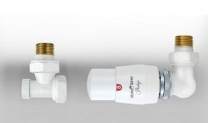 Zestaw termostatyczny MASTER wersja osiowa prawa biała