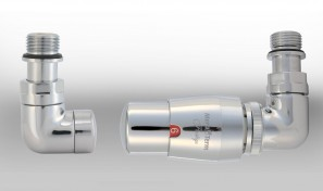 Zestaw instalacyjny VISION termostatyczny wersja osiowa prawa chrom