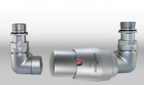 Zestaw instalacyjny VISION termostatyczny wersja osiowa prawa satyna