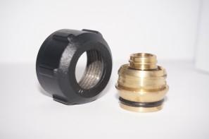 Złączka zaciskowa do rury z tworzywa sztucznego GW 3/4 Alu Pex 16x2 czarna połysk