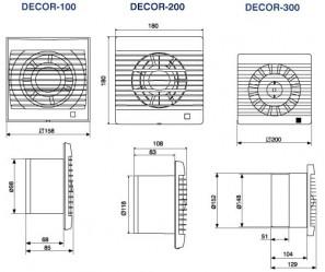 Wentylator łazienkowy DECOR 100 CHZ VISUAL z higrostatem