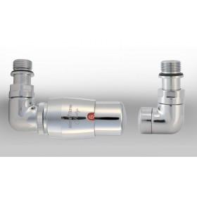 Zestaw instalacyjny VISION termostatyczny wersja osiowa lewa chrom