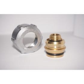 Złączka zaciskowa do rury z tworzywa sztucznego GW 3/4 Alu Pex 16x2 nikiel szlifowany