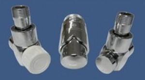 601700153 Zestaw łazienkowy Exclusive GZ ½ x złączka 15x1 Stal osiowo prawy chrom