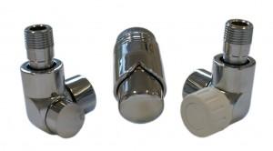 603700035 Zestawy łazienkowe LUX GZ ½ x złączka 16x2 PEX osiowo prawy chrom