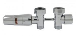 606100061 Zestaw Duo-plex Mini, 3/4 x M22x1,5. Figura prosta. Chrom