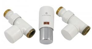 603400009 Zestaw termostatyczny Elegant Mini 1/2 x M22x1,5, prosty, biały-chrom