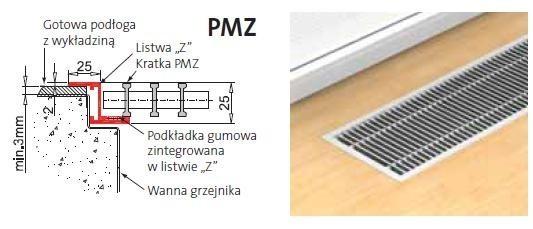 KRATKA PURMO PMZ z listwą Z