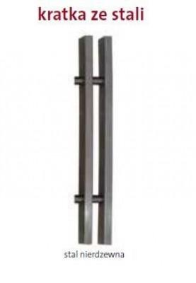 PML 420/1200 Stal nierdzewna kratka poprzeczna lub podłużna