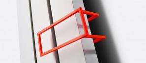 Poręcz na ręczniki z lakierowanego aluminiu CZARNY 286x110 do grzejnika NIVA INOX N2L1 118372200000300