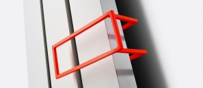 Poręcz na ręczniki z lakierowanego aluminiu 286x110 do grzejnika NIVA INOX N2L1 118372200000601