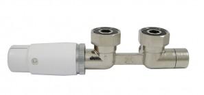 606200011 Zestaw Duo-plex Invest Mini. Niklowany. 3/4 x M22x1,5. Figura kątowa lewa