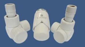 601700150 Zestaw łazienkowy Exclusive GZ ½ x złączka 15x1 Stal osiowo prawy biały