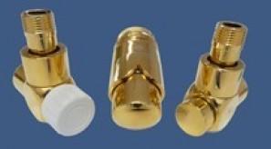 601700164 Zestaw łazienkowy Exclusive GZ ½ x złączka 15x1 Stal kątowy złoto
