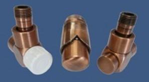 601700167 Zestaw łazienkowy Exclusive GZ ½ x złączka 15x1 Stal kątowy antyczna miedź
