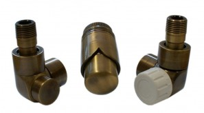 603700052 Zestawy łazienkowe LUX GZ ½ x złączka 16x2 PEX kątowy Antyczny mosiądz