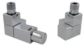 605800047 Zestaw termostatyczny Square 1/2 x Stal 1/2 osiowy biały