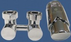 601000025 Zestaw armatury Exclusive 3/4xM22x1,5 prosty chrom + Nypel 2szt. 1/2 x 3/4