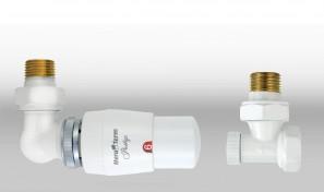 Zestaw termostatyczny MASTER wersja osiowa lewa biała