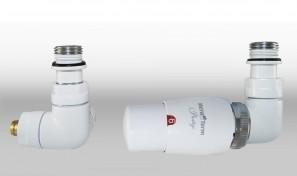 Zestaw instalacyjny VISION termostatyczny wersja osiowa prawa biała