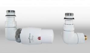 Zestaw instalacyjny VISION termostatyczny wersja osiowa lewa biała