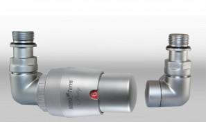 Zestaw instalacyjny VISION termostatyczny wersja osiowa lewa satyna