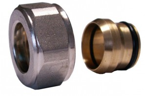 602500002.05 Złączka zaciskowa do rury z miedzi. GW M22x1,5 x 15mm złoto mat