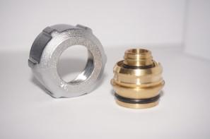 Złączka zaciskowa do rury z tworzywa sztucznego GW 3/4 Alu Pex 16x2 satyna