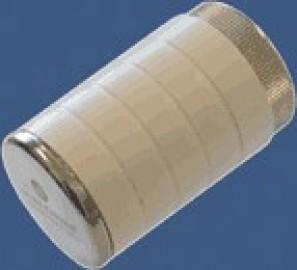 603000012 Pokrętło białe chrom z gwintem przyłączeniowym M30x1,5
