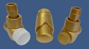 601700126 Zestaw łazienkowy Exclusive GZ ½ x złączka 15x1 Cu osiowo prawy złoto mat