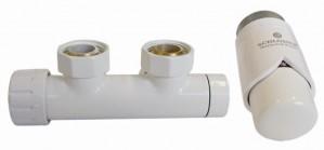 602100031 Zestaw duo-plex 3/4xM22x1,5 prosty biały + Nypel 2szt. 1/2 x 3/4