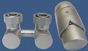 601000029 Zestaw armatury Exclusive 3/4xM22x1,5 prosty satyna + Nypel 2szt. 1/2 x 3/4