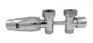 606100062 Zestaw Duo-plex Mini, 3/4 x M22x1,5. Figura prosta. Chrom
