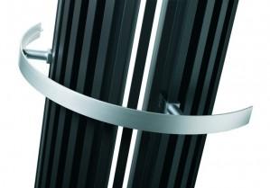 Poręcz na ręczniki aluminiowa do grzejników ZANA ZV-O 393mm  128323200000000
