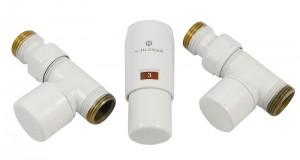 603400008 Zestaw termostatyczny Elegant Mini 1/2 x M22x1,5, prosty, biały