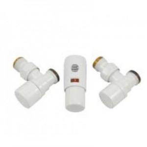 603400105 Z9 Zestaw Łazienkowy Kątowy Mini Biały STAL